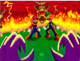 Mario and Luigi: Final Battle by Vudujin