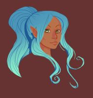 Color Practice: Elven Girl by Simpl3Mind