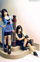 Rinoa and Tifa by lonelymiracle