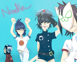 Gorillaz: Noodle Phases by Imotto-chan