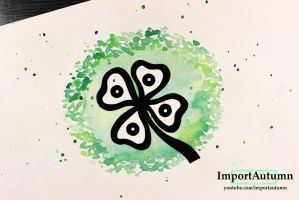InkTober 2016 Day 14 - Four Leaf Clover! [Vlog] by ImportAutumn