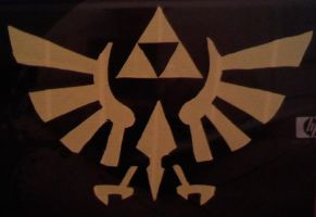 Triforce Laptop Decal by DuctileCreations