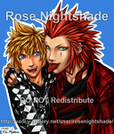 Axel and Roxas punks by RoseNightshade