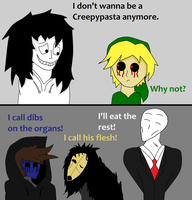 Jeff Doesn't Want to be a Creepypasta by Stripesthetiger11