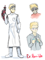 Dr. Horrible doodles by VengefulSpirits