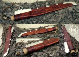 Hiberno-Norse Viking Seax and Scabbard by Meredyth