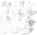 hand studies/sketches by PandaHeroBases