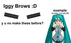 MMD Iggy Brows XD DL by monobuni