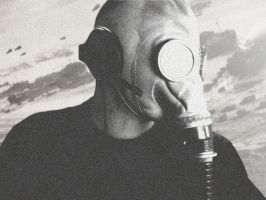 Self Portrait: Gas Mask Profil by ccWildcard