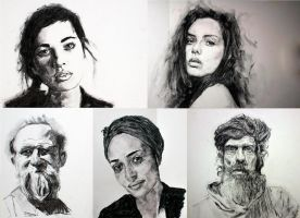 Charcoal Sketches by StefanRess