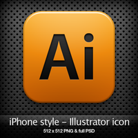 iPhone style - Ai CS4 icon by YaroManzarek
