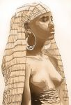 topless ancient egyptian girl by jbeverlygreene
