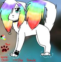 olivia's Rainbow furry form by Delta-kitty