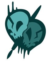 Super Skull Logo Monochromatic by XxCrimson-MoonxX