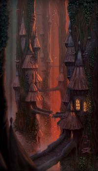 Treetop village by LiToKi