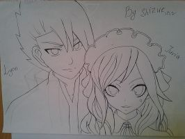 Photo whith Lyon and Juvia by shizushizu13