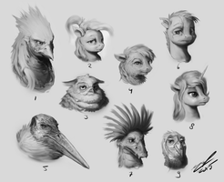 Faces of FCW #01 by AssasinMonkey