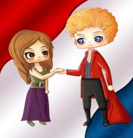 Enjolras and Eponine by Barriss-Offee