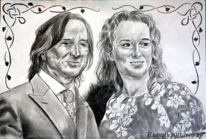 Robert Carlyle and his wife by Rumple-antares