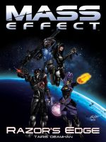 Mass Effect: Razor's Edge Fanfiction Book Cover by animemagix