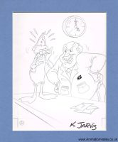 Warner Bros Daffy Duck Production Drawing by AnimationValley
