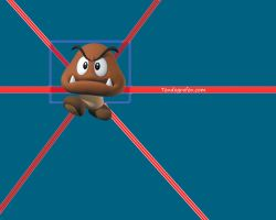 Nintendo Wallpaper with Goomba by afoxen