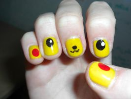 Pikachu nails by CandYJeS
