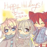 Happy Holidays From Me and the Babes :'3 by NightSummerRain