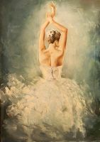 Ballerina in white by PiskunovSergey