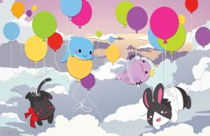 Paper Balloons by finni