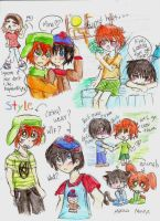 South park: StYle doodles :D by freaky-anime-doodler