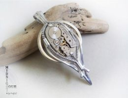 Sterling silver Steampunk pendant no.1 by SuziMidnight