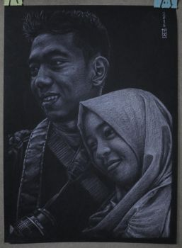 Commission 4 Black Paper White Pencil by tatang999