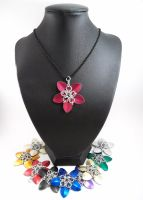 Chainmail Scale Flower Necklace by SerenityinChains