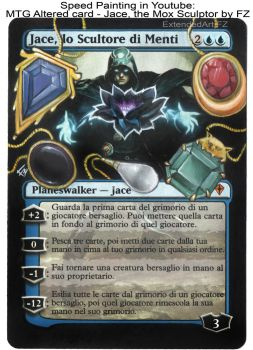 MTG Altered card - Jace, the Mox Sculptor by FZ by FlorindaZanetti