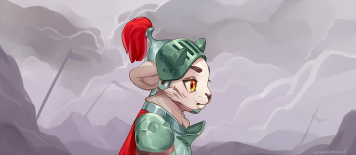 Lil white tiger warrior by CyanCapsule