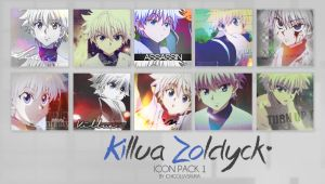 Killua Zoldyck Anime Icon Pack  // Hunter x Hunter by ichigoluvsrukia