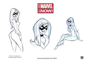 character design black Cat marvel Now concept by celaoxxx