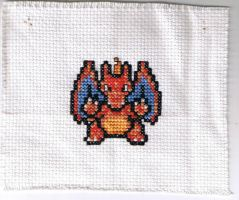 Charizard Cross Stitch by Awenmir