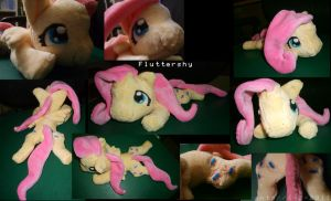 Fluttershy Plush by TheNoTalentLoser