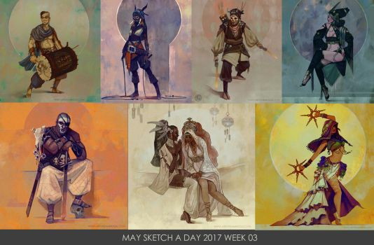 May Sketch a Day Week 03 by Zephyri