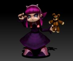 Annie Figurine - Lol Available @Shapeways ! by Vidal-Design