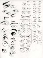 Here's a bunch of eyes by zoyakim