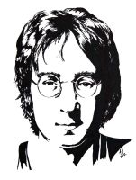 John Lennon: Black and White study by Audgeon58