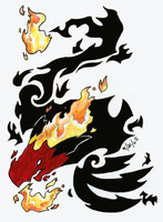 Flames of Cinder by crayon-chewer