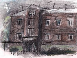Old house sketch by AlexandrVirus