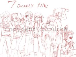 Seven Deadly Sinz as Piratez by Azurith