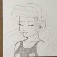 Ariel vibing to some great tunes by ayethatsmina