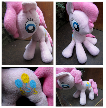Pinkie Pie Plush: More Views by buttsnstuff