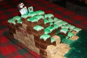 Minecraft Cake 3 by FlaxenFlash